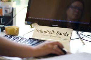 Schrijftolk Sandy